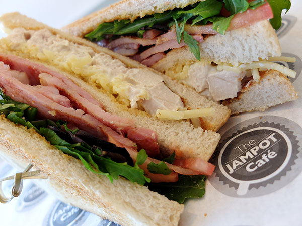 A photo of a delicious sandwich platter from Jampot Cafe dorking