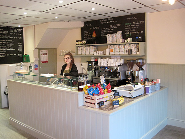 A photo showing the smart new look to the interior of the Jampot Café, Dorking