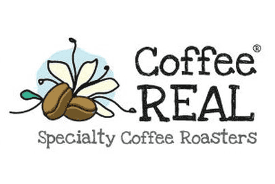 Coffee Real graphic logo